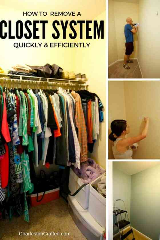 How to Remove a Wire Closet System - Charleston Crafted