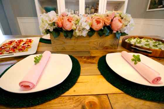 A Pink & Green Floral Spring Tablescape - Charleston Crafted