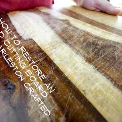 How to Restore an Old Wooden Cutting Board