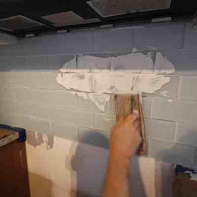 How to Hang a Tile Bar Glass Subway Tile Kitchen Backsplash