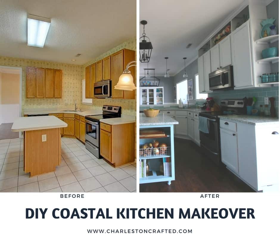 Our Beach House Kitchen The Reveal: Our DIY Coastal Kitchen Reveal! • Charleston Crafted