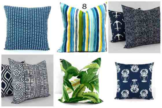 outdoor pillows under $15 - charleston crafted