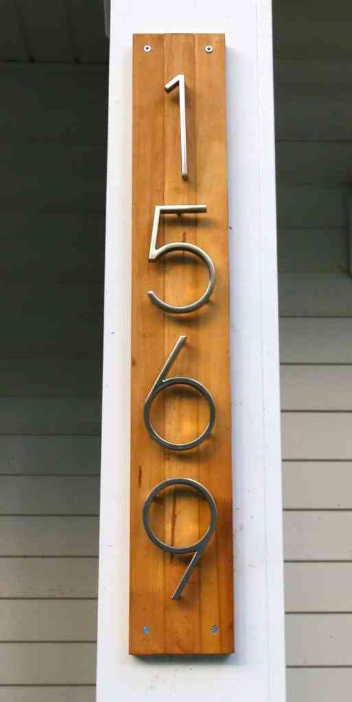 Modern Address Sign - Charleston Crafted