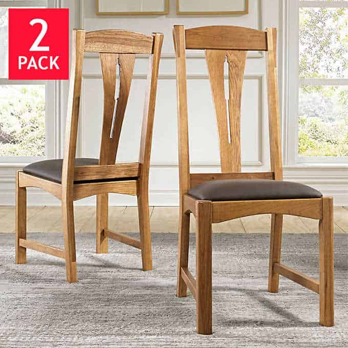 annora dining chairs - Gorgeous Dining Room Furniture that you wouldn't believe came from COSTCO! via charleston crafted