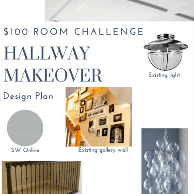 $100 Challenge: Hallway Makeover Design Plan
