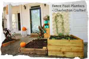 Fence Post Planters - Charleston Crafted