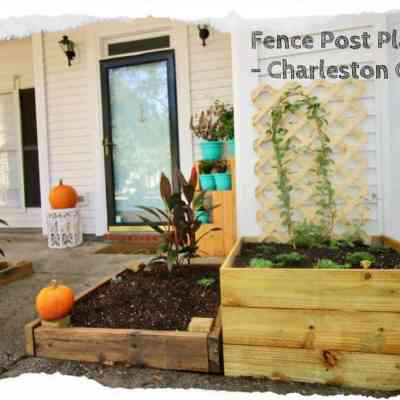 Fence Post Planters