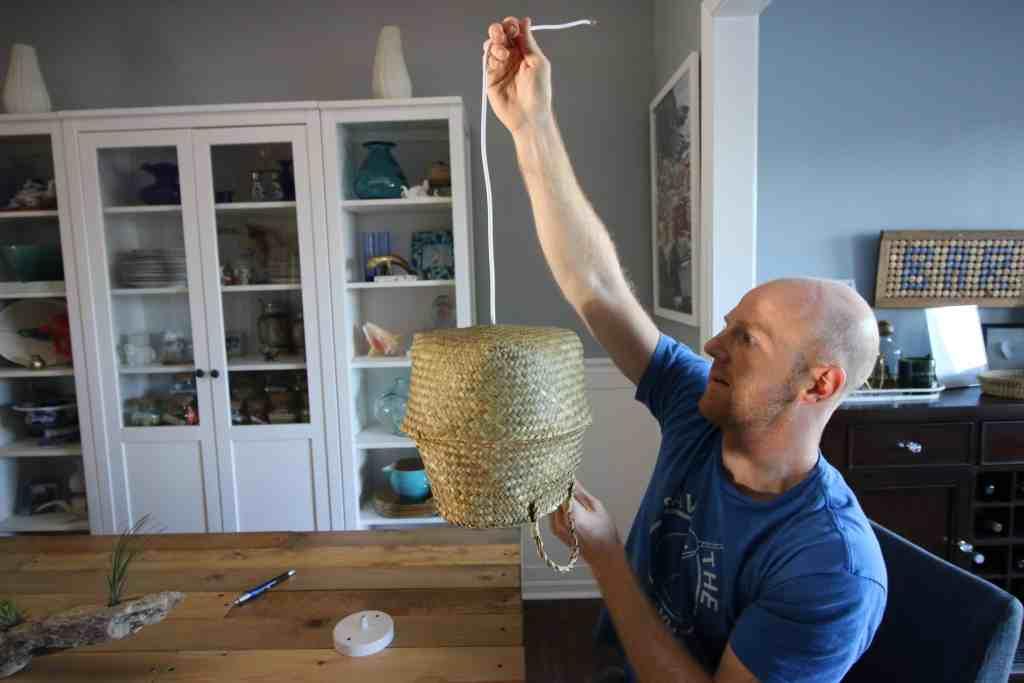 DIY Basket Pendant Light via Charleston Crafted