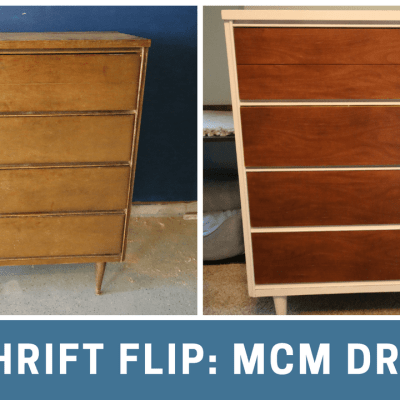 Thrift Flip: $70 Mid Century Modern Dresser Makeover via Charleston Crafted