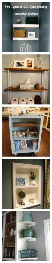 Five Types of DIY Open Shelving - Charleston Crafted