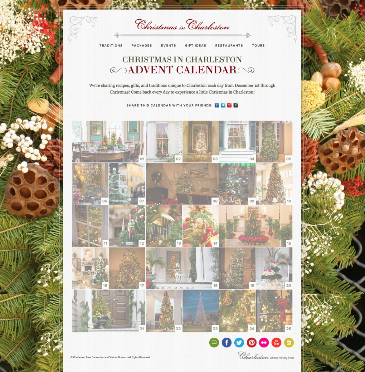 Christmas in Charleston Virtual Advent Calendar