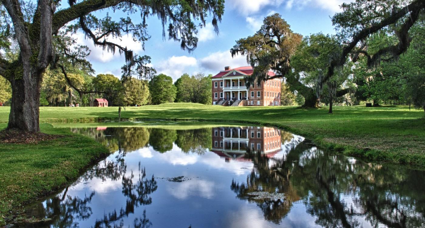 Drayton Hall across the pond – photo by Tony Sweet_ExploreCharleston.