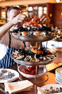 """The Seafood Tower from Hank's Seafood Restaurant is definitely a Charleston """"bucket list"""" food experience!"""