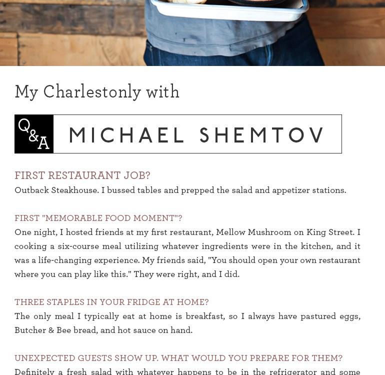 Michael Shemtov Interview