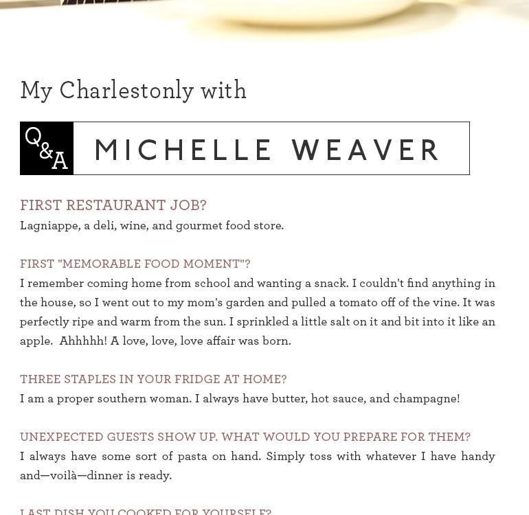 Chef Michelle Weaver