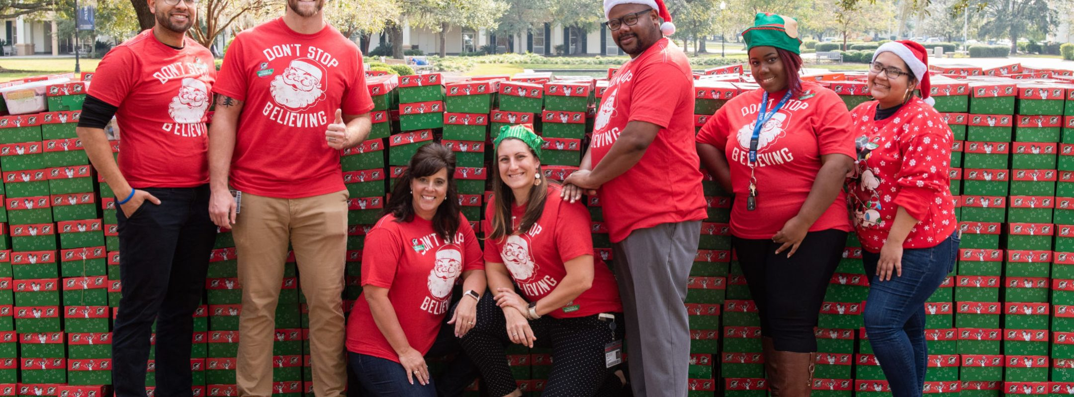Organizers from Operation Christmas Child at Charleston Southern University