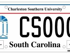 CSU License Plate