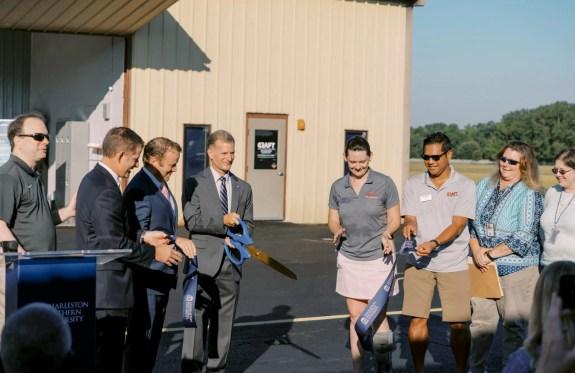 Charleston Southern University and CRAFT Flight Training hosted the CSU Aeronautics Liftoff ribbon-cutting event to officially kick off the university's new Professional Pilot degree program