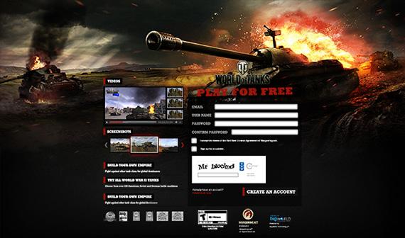 Wargaming Landing Page