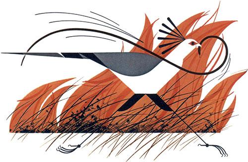 Secretary Bird & Mamba | Charley Harper Prints | For Sale