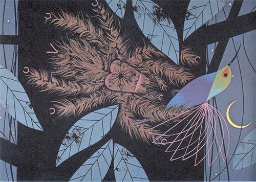 Humming Bird & Tarantula | Charley Harper Prints | For Sale