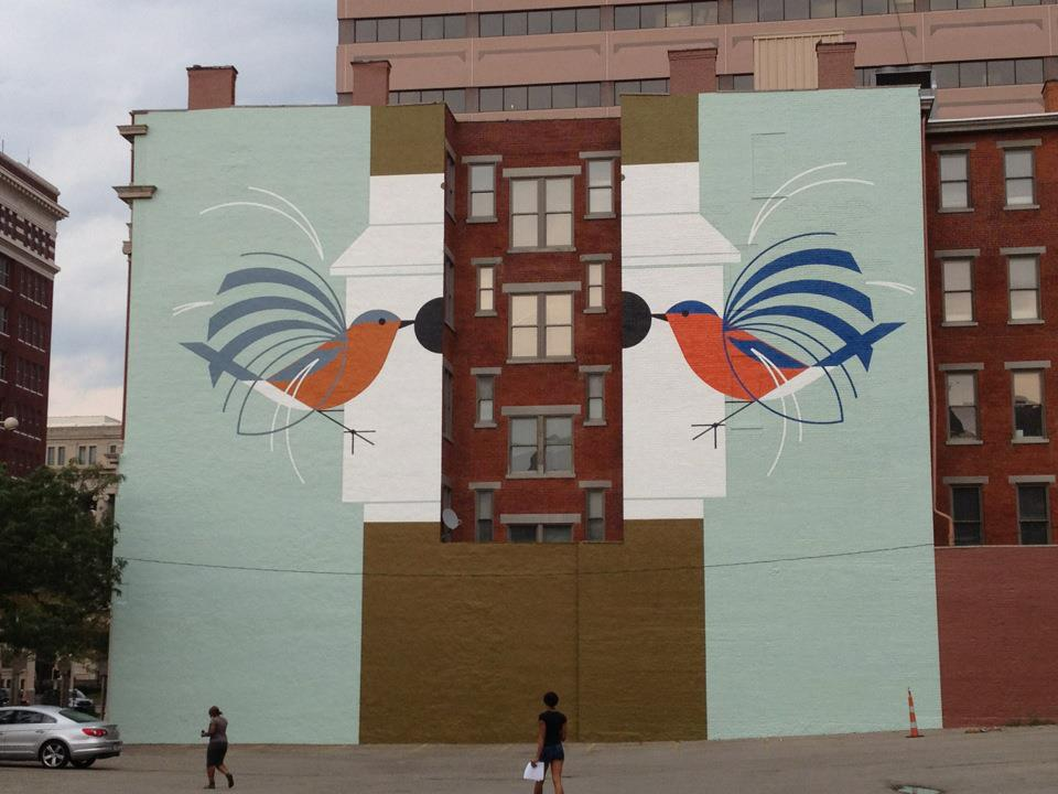 Homecoming Mural | Charley Harper | Cincinnati, OH