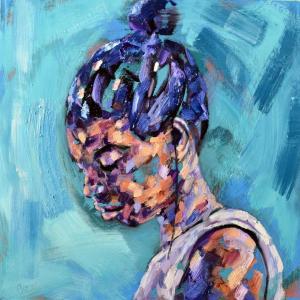 Blue portrait by Charley Jones
