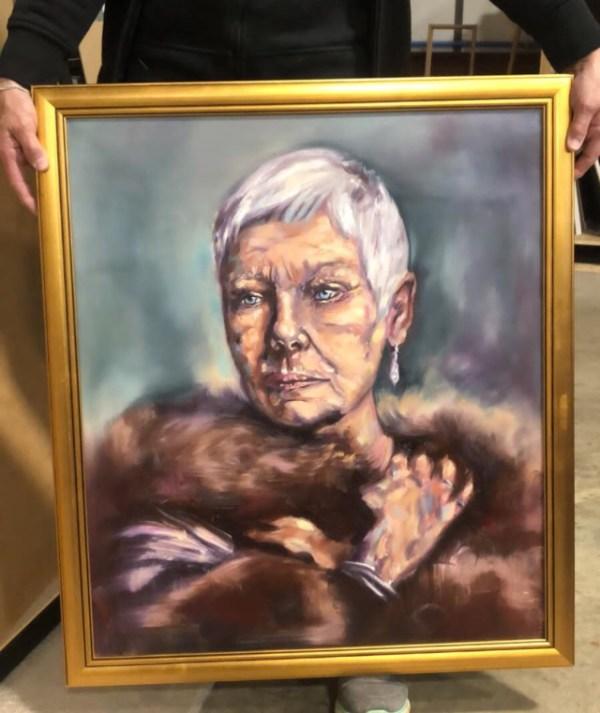 Dame Judi Dench Commision Portrait Painting