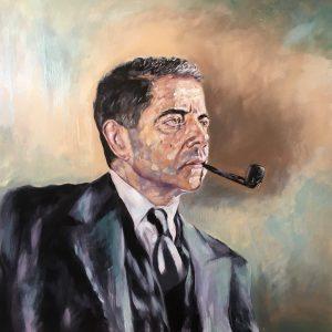 Rowan Atkinson Portrait by Charley Jones