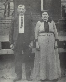 Jeff & Maggie Parnell, 1918, Warren, Arkansas, Great Grandfather & Grandmother, Full name is Thomas Jefferson Parnell & Maggie Cornelia Connell Parnell, Jeff-MaggieParnell_1918-A.jpg