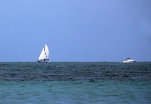 Paradise must have a sailboat & speedboat!