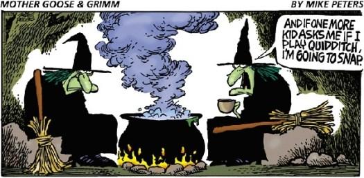 Witch-Quiditch Cartoon