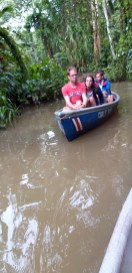 The 10 AM Tour had 8 persons, two canoes.