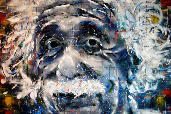 Einstein Painting - Charlie Hanavich Art