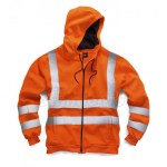 hi vis hooded jacket orange