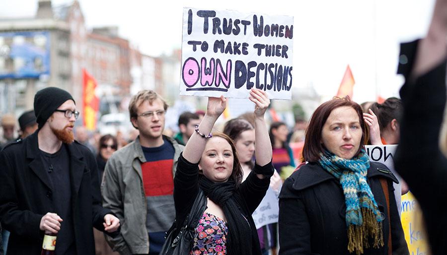 "Irish man goes on ""hunger strike"" against women's rights"