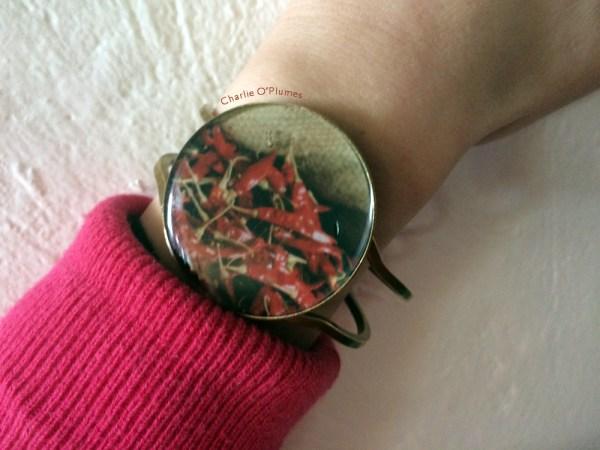 piment india spirit oplumes bracelet unique