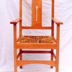 Arts And Crafts Style Chair The Gym New Movement Oak Carver Side Chairs In Medium Finish