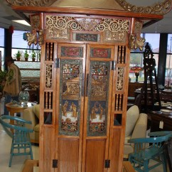 Chinese Wedding Sedan Chair Wood Hand Oriental Charlie 39s Antiques