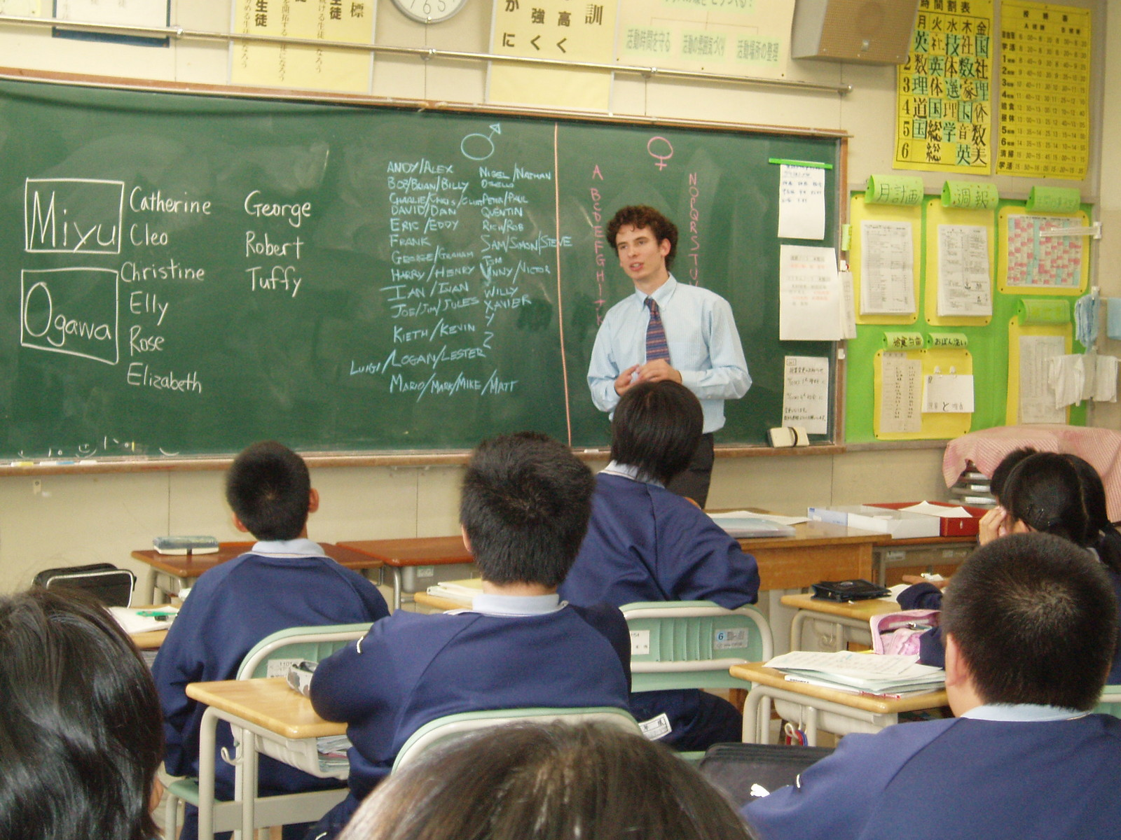 Me in a past life - teaching in Japan