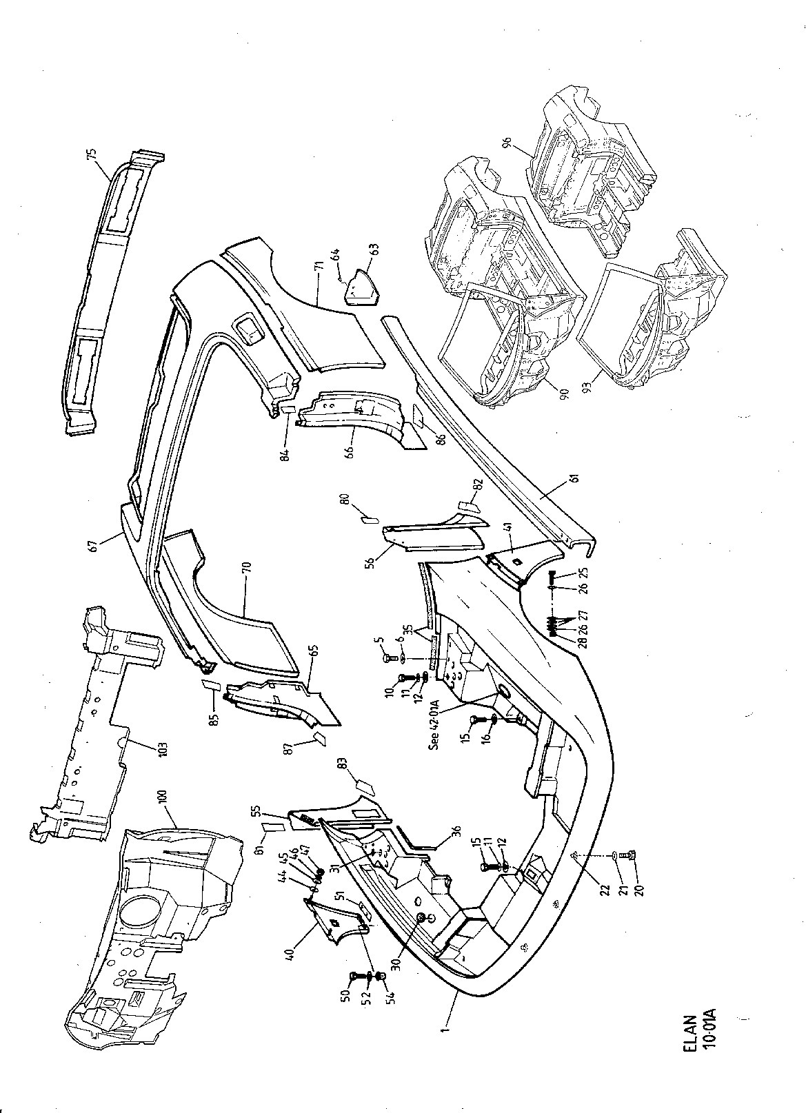 Body shell diagram