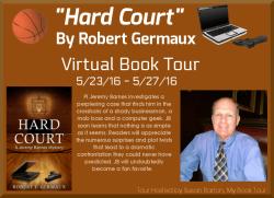 Hard Court, Robert Germaux Virtual Book Tour Banner