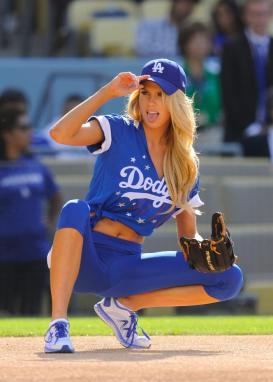 Charlotte McKinney - Dodgers Hollywood Stars softball - 01