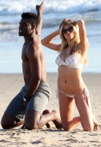 Charlotte McKinney Rehearses For Dancing With The Stars on Santa Monica beach - 09