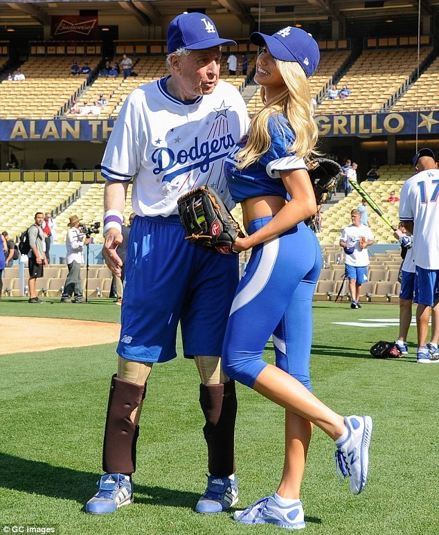 Charlotte McKinney - Dodgers Hollywood Stars softball - 10
