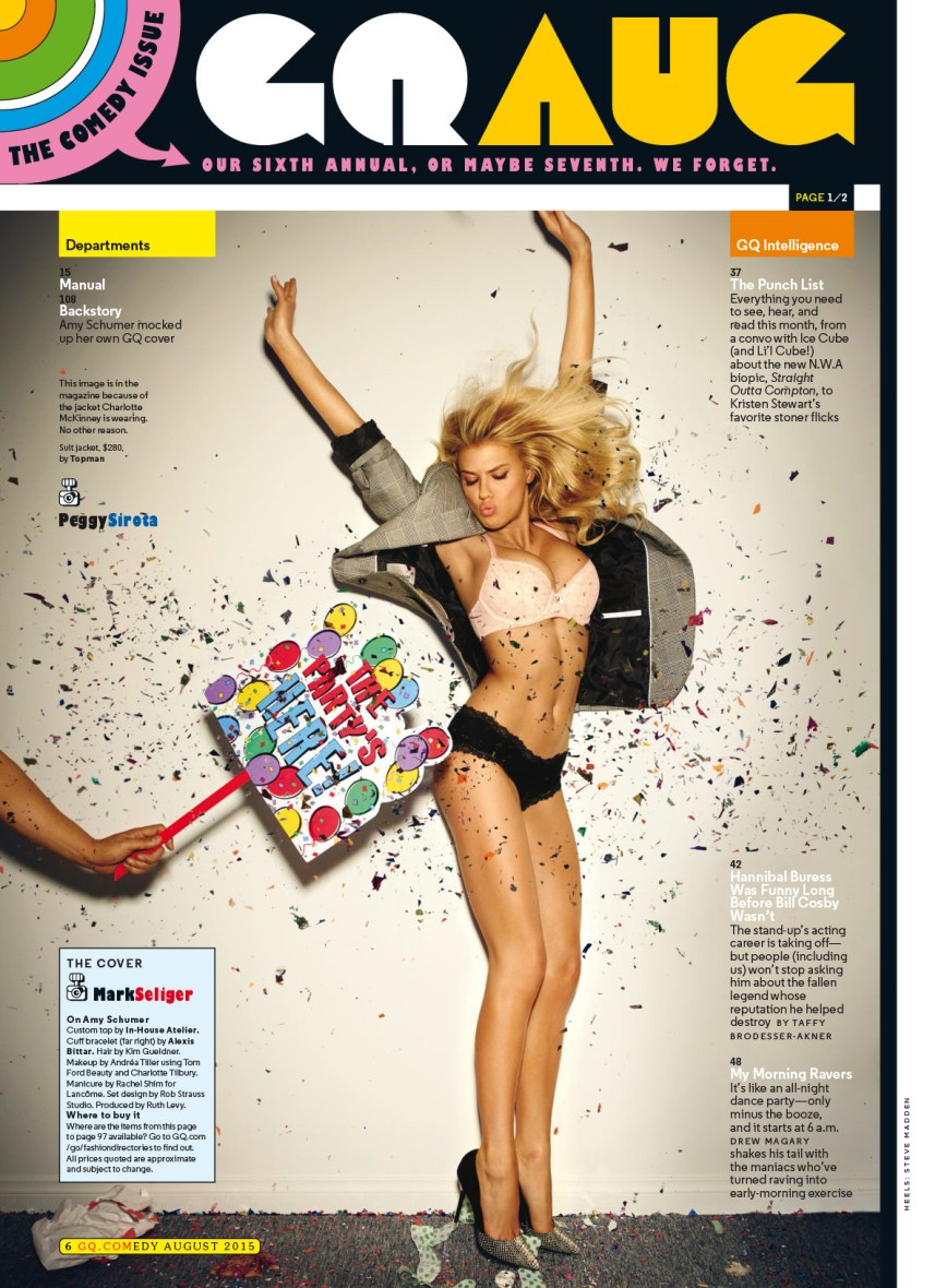 Charlotte McKinney - Top less in GQ comedy - 01