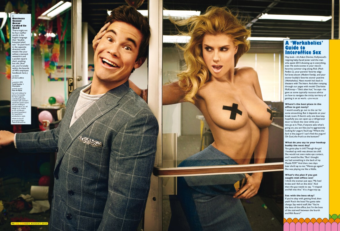 Charlotte McKinney - Top less in GQ comedy - 02