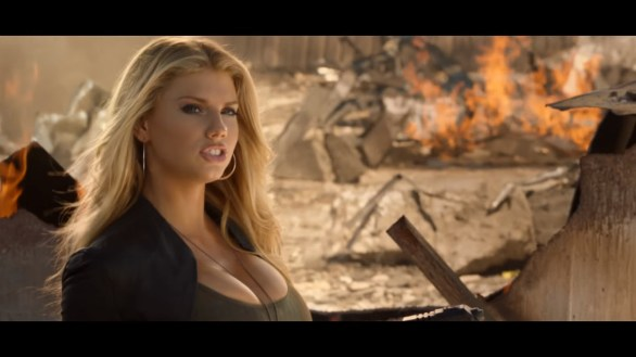Charlotte McKinney on Carl's Jr. & Call of Duty Black Ops 3 Commercial - 06