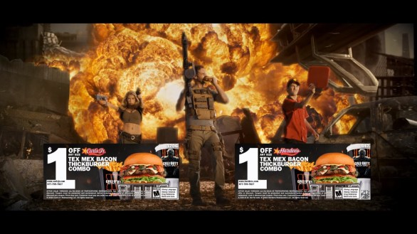 Charlotte McKinney on Carl's Jr. & Call of Duty Black Ops 3 Commercial - 13