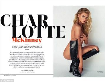 Charlotte McKinney - Cover GQ Mexico Magazine February 2016 - 02